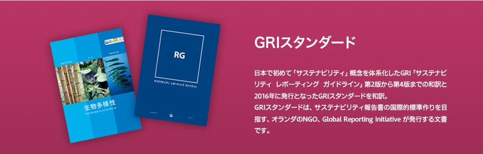 日本で初めて「サステナビリティ」概念を体系化したGRI「サステナビリティ レポーティング ガイドライン」第2版から第4版までの和訳と2016年に発行となったGRIスタンダードを和訳。GRIスタンダードは、サステナビリティ報告書の国際的標準作りを目指す、オランダのNGO、Global Reporting Initiative が発行するガイドラインです。